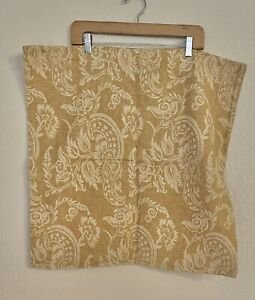 """Pottery Barn Alessandra Pillow Cover 24"""" Square Gold Harvest Yellow Floral"""