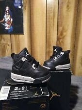 Jordan 4 Retro Ls Bt Size 2c Black and Tech Gray