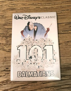 Disney Classics Movie Poster 101 Dalmatians Magnet - Made In USA Vintage