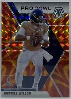 2020 Mosaic Football RUSSELL WILSON #260 PRO BOWL ORANGE REACTIVE PRIZM Seahawks
