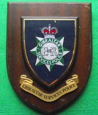 Obsolete Gibralter Services Police Crest Plaque Shield