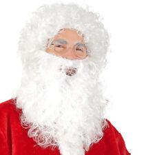 Barba con Parrucca Bianca Babbo Natale per Vestito Santa Claus Taglia Unica