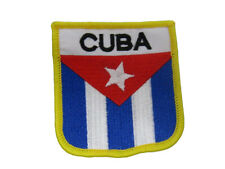 Cuba Cuban Letters Country Flag Iron On Patch