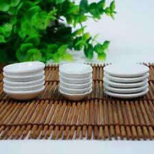 1:12 Dolls House Miniature 5PCS White 3 Model Dishes Plates Kitchen Tableware