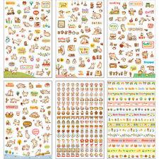6 fogli di diario Gatto Decorazione Adesivo Carino Cartoon Adesivi Etichetta kawaii