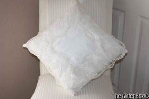Shabby Cottage Chic Elegant Ivory Lace Decorative Toss Pillow Victorian Lace