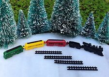 Miniature Dollhouse CHRISTMAS VILLAGE Fairy Garden ~ TINY Metal Train Set ~ NEW
