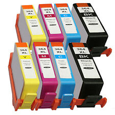 8 Cartouches encre compatibles HP 364 XL  avec puce pack  8