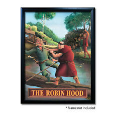 ROBIN HOOD PUB SIGN POSTER PRINT | Home Bar | Man Cave | Pub Memorabilia
