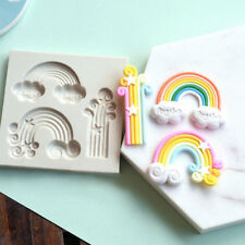 Rainbow Cloud Fondant Cake Silicone Mould Tool Sugarcraft Chocolate Baking Mold