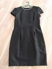 BNWT NEXT Tailored EMBELLISHED NECKLINE Jewel Party Cocktail Dress Uk14 textured