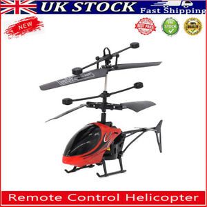 Mini Remote Control Helicopter Model Aircraft Kids Outdoor RC Drone Toy w/ Light