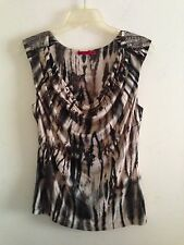 Velvet Brand Anthropologie Sz S Small Tie Dye Animal Print  Ruched Knit Top Tank