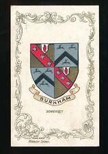 Somerset BURNHAM Heraldic Series pre1919 PPC