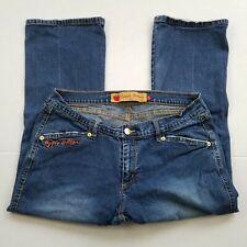 Apple Bottoms Capri Jeans Womens Size 13 14 Stretch Denim Blue 34 X 24 Mid Rise