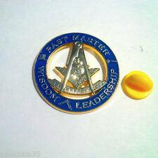 Large High Quality  Past Master Freemasonry Masonic Lodge  Lapel Pin #091