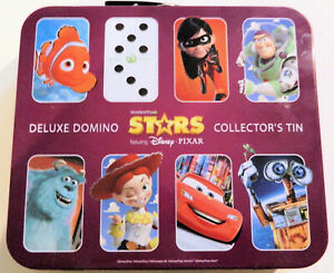 Walt Disney Pixar Domino Tin Box and assorted Dominos by Woolworths