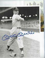 Mickey Mantle Autographed Baseball 8x10 Brace Photo PSA Letter NY Yankee Rookie