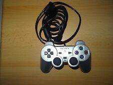 Sony Silver Playstation 2 Dual Shock Controller Pad Original official  PS2