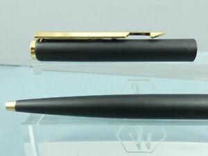 """Vintage Parker Arrow Epoxy Matt Black Ballpoint Pen, GT, 1986, Imprint, """"MINT"""""""