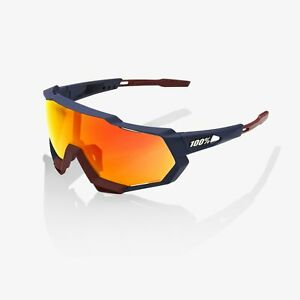 100% Percent Cycling Sunglasses Speedtrap Soft Tact Flume HiPER Red Mirror Lens