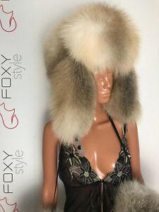 Huge Golden Island Fox Fur ushanka.