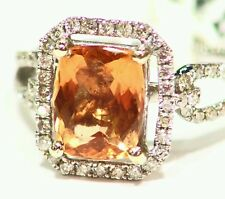 3.60CT 14K Gold Natural Stone White Cut Diamond Engagement Vintage Jewelry Ring