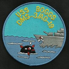 US NAVY USS BOGGS DMS-3 AG-19 Ship MILITARY PATCH Auxillary Minesweeper