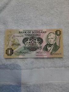 Bank Of Scotland  One Pound Note 1979