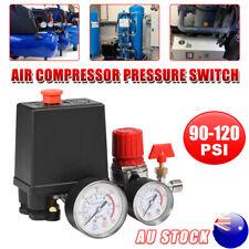 240V 120PSI Air Compressor Pressure Switch Pump Valve Control Regulator Gauge