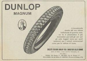 Z1707 Tires Dunlop Magnum - Advertising D'Epoca - 1922 Old Advertising