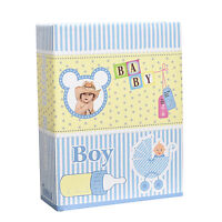 Arpan Small 6x4 Baby Boy Blue Photo Album Slip in Case for 100 Photos AL-9140