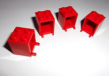 Lego (4345) 4 Container/Boxen 2x2x2, in rot aus 9311 60004 7942 6956 8403 41095