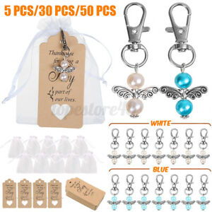 Wedding Angel Key Ring + Organza Pouch + Pendant Gifts For Baptism   e s z j L