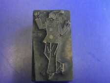 Old Vtg Collectible Clown Letter Standing Press Wooden Printing Block 2x1x1