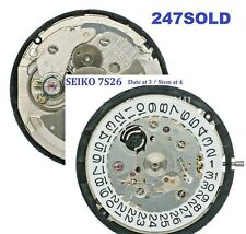 New ! Seiko Automatic 7S26 (21 Jewels) Watch Movement Date at 3 / Stem at 4.