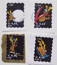 Stadspost Den Helder  - 4 Kerstzegels gebruikt, op papier