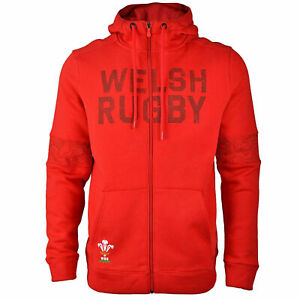 Under Armour WRU Wales Rugby Adult's Full Zip Hoody Home Red (Sizes: S - 5XL)