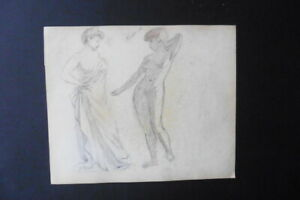 FRENCH SCHOOL CA. 1900 - STUDIES FEMALE NUDES - BELLE EPOQUE - PENCIL DRAWING
