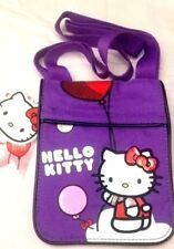 Hello Kitty - Sanrio - Tracollina in Tessuto Rosa Viola 15x20- Cartorama - Nuovo