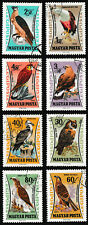 1962 Hungary 'Birds of Prey' Series Stamps set of 8 - Used / Excellent