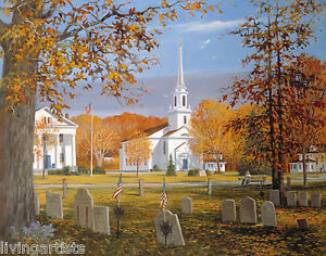 New England HOLDEN COMMON Autumn 16x20 Signed Giclee Art Print **SALE