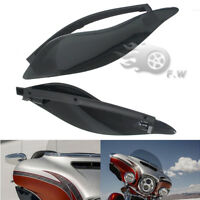 ABS Side Wings Air Deflectors For Harley Touring Street Glide 2014-2018 Black