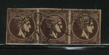 Greece  Scott # 32a  Strip of 3 USED in Constantinople  Value $ 975.00 US $$