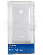 New Microsoft Nokia Lumia 435 Genuine Battery Back Cover Shell Case Door White