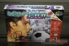 Mia Hamm Soccer 64 (Nintendo 64, N64 2000) FACTORY SEALED & MINT! - RARE!