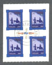 Ireland -Christmas self-adhesive 2000 used block of 4-1376