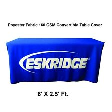 Adjustable Convertible Table Cover Throw for Tradeshow Tablecloth Fit 6Ft. Table