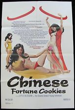 CHINESE FORTUNE COOKIES Asian Sexploitation 1sh MOVIE POSTER Rated X Adult 1980