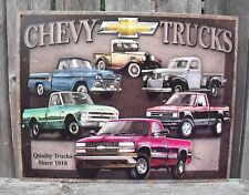 Sign Chevrolet Truck Since 1918 Classic Vintage Metal New Nostalgic Collectible